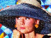 MARIA MURGIA - Audrey Hepburn - Fotomosaico digitale cm 60x80