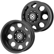 "Set of 4-ATX Series AX204 Baja Dually 17 Inch 8x6.5"" Satin Black Wheels Rims"