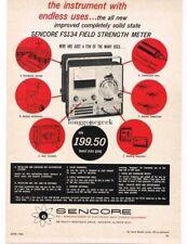 1966 Sencore FS134 Field Strength Meter tester Vtg Ad