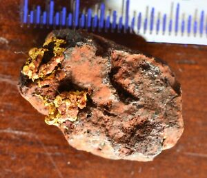 Genuine, natural, Australian crystalline gold hematite nugget specimen 5.02 gram