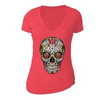 Sugar Skull Day of the Dead T-shirt Flowers Mexican Gothic Dia Los Muertos shirt