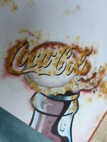 altes Coca Cola Reklame Werbeschild Blechschild Tante Emma Laden 49x69