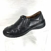 Joseph Seibel Women's Loafers Black Leather Casual Shoes Size 36 US 5-5.5