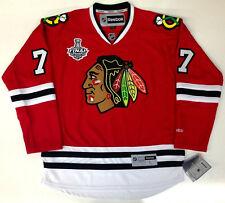 BRENT SEABROOK 2013 CHICAGO BLACKHAWKS STANLEY CUP REEBOK NHL PREMIER JERSEY