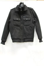 Jack and Jones Mens Jacket Size S Black Excellent Used Condition 50% Wool 1802