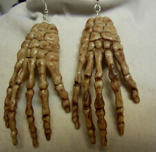 UNIQUE HALLOWEEN BIG 925 EARRINGS ALIEN MONSTER WITCH  HANDS NORA WINN