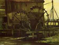 Water Wheels Of Mill At Gennep 1884 A3 Box Canvas