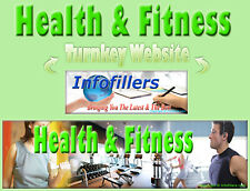 Health Fitness Self Updating Turnkey Website Automated*