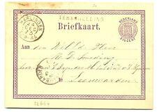 NEDERLAND 1873  BRIEFKAART  - LANGST = TERSCHELLING  =FRAAI -BESCHADIGD