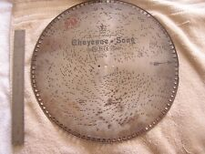 Antique Music Metal Disk Disc Cheyenne Song E. Van Alstyne Swiss