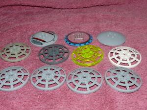 11 x Lego mixed Round Dish Satellite Radar 6x6, Part 4285, City, Star Wars