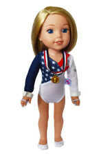 "Doll Clothes AG 14.5"" Gymnastic USA Red White Blue Olympic Fits AG 14.5"" Dolls"