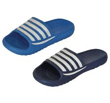 Surf Life Men's Striped Slip On Pool Beach Sliders Clogs Mules Shoes Slippers