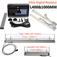 400&1000MM Linear Scale Precision 2Axis Digital Readout Lathe Milling Machine