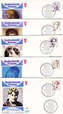 Berlin 824-28 FDC, Freimarken-Frauen der deutschen Geschichte 1988