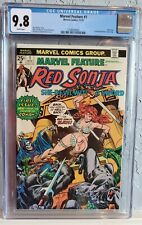 MARVEL FEATURE #1 (1975). NM/M CGC 9.8 White Pages 1st RED SONJA solo book  🔥🔥