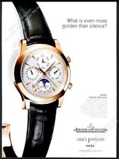 2002 Jaeger LeCoultre Master Grande Memovox moonphase watch photo print ad