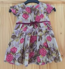 Girls Floral Print Monsoon Dress Age 6-12 Months