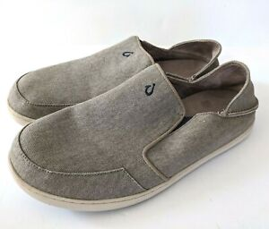Olukai Nohea Lole Mens 12 Shoes Slip On Loafer Beige 10346 Comfort Casual 12M