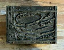 Vintage Printers Letterpress Metal Plate Cut Block Science Textbook Weather Air
