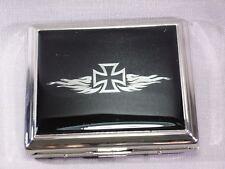 Angelo Cigarette Case - Epoxy Flames/Cross - 18er - Nip - A80058