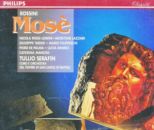 ROSSINI / MOSE - TULLIO SERAFIN - PHILIPS - (2) CD SET, BOOKLET -MADE IN GERMANY