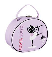 Girls Lilac Ballet Ballerina Dance Hand Vanity Case Bag By Katz Dancewear KB15