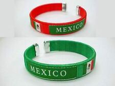 Mexico Flag Bangle Bracelet (Green or Red)