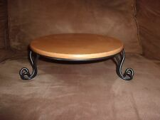 Longaberger Wrought Iron Pasta Bowl Stand with Warm Brown Shelf