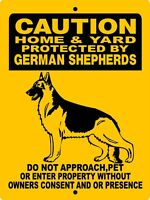 "GERMAN SHEPHERD  DOG SIGN,9""x12"" ALUMINUM SIGN,SECURITY,WARNING,H2496C5B"