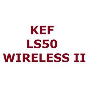 KEF LS50 Wireless II, Pair of 760W Wi-Fi Hi-Fi Speaker AirPlay 2 MQA DSD256