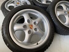 """16"""" ORIGINAL PORSCHE 993 964 CUP FELGEN 7x17"""" ET55 + 8x17"""" ET70 Carrera S Winter"""