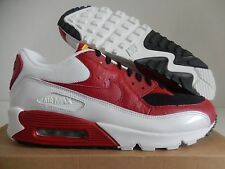 NIKE AIR MAX 90 BLACK-VARSITY RED-WHITE SZ 11 [325018-061]