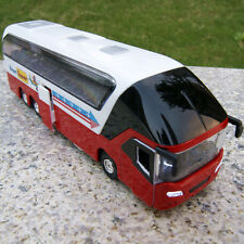 Tour Bus 1/32 Model Cars New York Sound&Light Sightseeing Diecast Toys Red Gifts