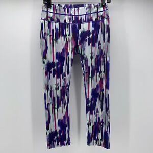 Athleta Legging Small Womens Purple Pink Back Zip Pocket Cropped Yoga 438851