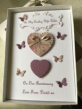 Handmade Personalised Boxed Card Anniversary Birthday Daughter Wife Sister Mum