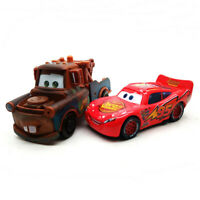 Lot 2 Disney Pixar Cars Lightning Mcqueen And Mater 1/55 Diecast Toy Kids Gift