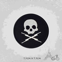 Lucky 13 Biker Skull Patch Iron On Patch Sew On Embroidered Patch