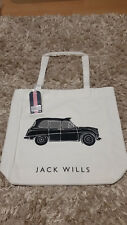 New Womens Jack Wills Book Bag London Taxi, Tote, Shopper, School, Beach, Cream