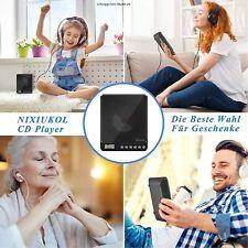 NIXIUKOL Tragbarer CD Player 1500mAh Persönlicher Wiederaufladbar-USB Asnchluss
