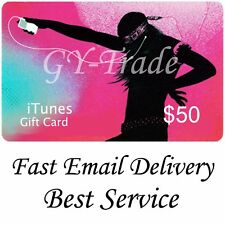 Apple iTunes $50 US Gift Card Karte Code Voucher Certificate USA USD *SUPER FAST
