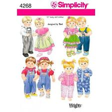 SIMPLICITY SEWING PATTERN 15 inch (38cm) BABY DOLL CLOTHES ONE SIZE   4268 A