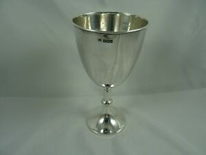 SOLID silver WINE GOBLET, 1909, 163gm