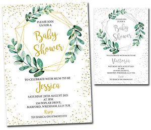 10 Personalised Baby Shower Invitations Unisex Boy Girl Invite Mum To Be Classic