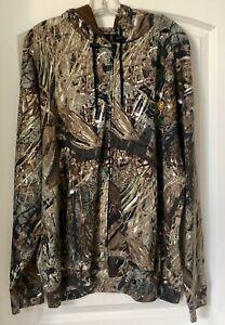 Browning Mossy Oak Camo Wasatch Fieldwear Full Zip Hooded Jacket Coat 2XL NWT