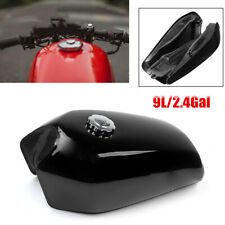 9L Gallon Vintage Motorcycle Cafe Racer Seat Fuel Gas Tank & Cap Switch Durable