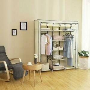"""69"""" Portable Clothes Closet Home Wardrobe Clothes Storage Holder with Hangers"""