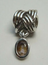 Original Pandora Beads Element Knoten mit Quarz 790476BQ Silber Charms  60a