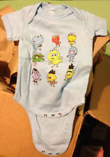 SESAME STREET Cookie, Elmo, Grouch, etc... Snapsuit Baby Romper 6M or 18M