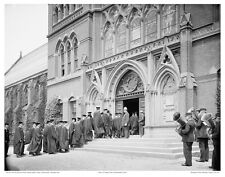 "11""x14"" B/W PHOTO: HARVARD CLASS DAY EXERCISES, SANDERS THEATER CAMBRIDGE 1906"